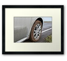 end of the off-road Framed Print