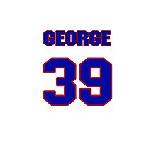 National baseball player George Frazier jersey 39 Photographic Print