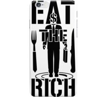 EAT THE RICH - on Light iPhone Case/Skin