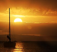 Sailboat Sunrise by Marloag