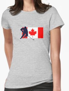 Canada Hockey Team T-Shirt & Sticker Womens Fitted T-Shirt
