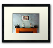 Antique Mantelpiece Still Life Framed Print