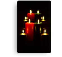 Lighted Christmas Candles (5)  Canvas Print