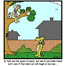 Dogs CAN climb trees! by Hagen