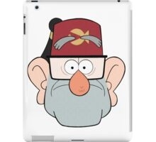 Stan Pines Paper Fez Face Mask iPad Case/Skin