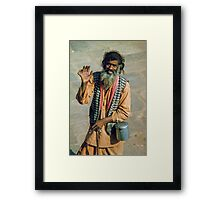 Dis- or more ability? ...Six digits on one hand! Framed Print