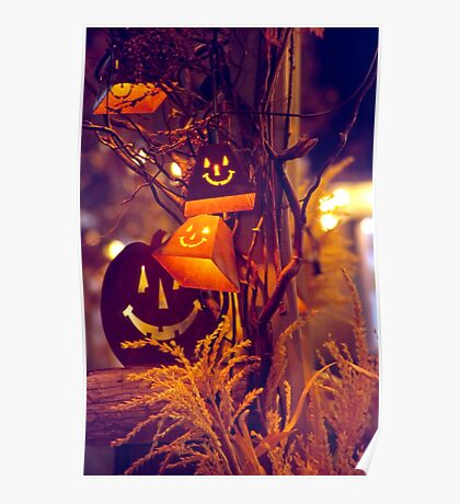 Lighted Outdoor Halloween Decor Poster