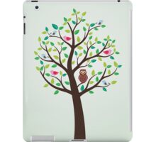 Birds And Owl In The Tree iPad Case/Skin