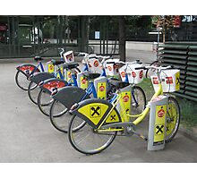 Bicycles  in Vienna Photographic Print