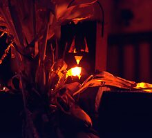 Lighted Halloween Jack-o-Lantern (2) by SteveOhlsen