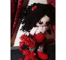 Kitty Serendipity - knitted burlesque doll series Photographic Print