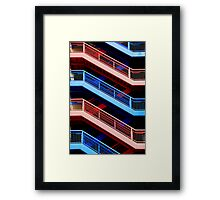 Red or Blue Framed Print