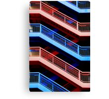 Red or Blue Canvas Print