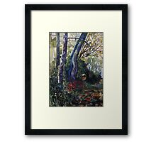 blue plane-tree Framed Print