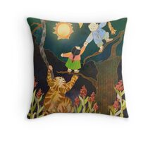 The Sun & Moon: Korean Folk Tale Throw Pillow