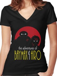 The Adventures of Two Heroes Women's Fitted V-Neck T-Shirt