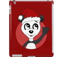 Cute Christmas panda bear cartoon iPad Case/Skin