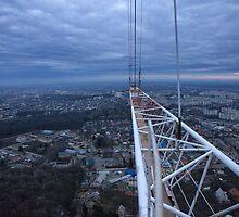 Panorama from Vinnytsya TV tower 1 by fine