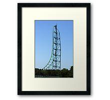 Kingda Ka - Worlds Tallest and Fastest Roller Coaster Framed Print