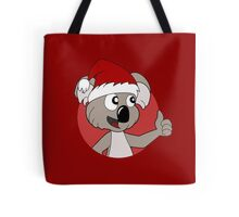 Cute Christmas koala cartoon Tote Bag
