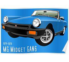 MG Midget 1500 UK spec blue Poster