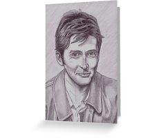 David Tennant  tenth Doctor Greeting Card