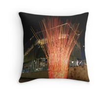 Federation Square fire Throw Pillow