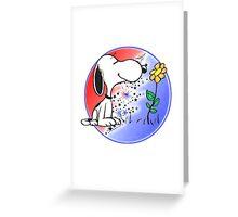 Snoopy Stealie Greeting Card