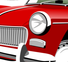 MG Midget Mark I red Sticker