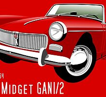 MG Midget Mark I red by car2oonz