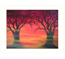 Tree Skeletons Art Print