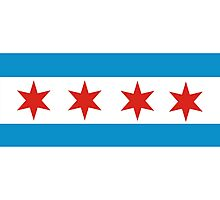 chicago flag Photographic Print
