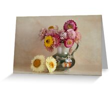 Everlasting flowers in a vase   Greeting Card