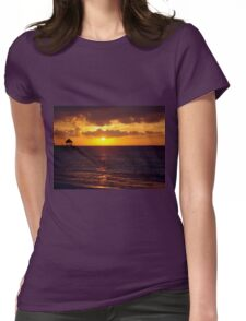 Sunset in Jamaica Womens Fitted T-Shirt