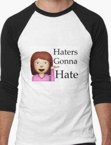 Haters Gonna Hate Emoji Men's Baseball ¾ T-Shirt