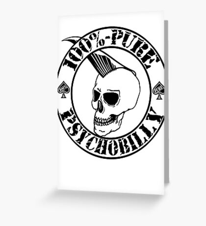 Pure Psychobilly - Black Stamp Greeting Card