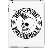 Pure Psychobilly - Black Stamp iPad Case/Skin