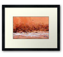 Desert Dusk by the Salt Lake Framed Print