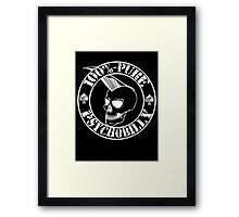 Pure Psychobilly - White Stamp Framed Print