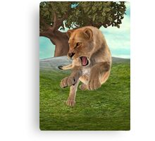 Hunting Lioness Canvas Print