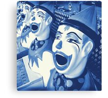 Laughing Clowns Canvas Print