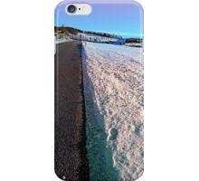 Winter wonderland, country road, vivid colors | landscape photography iPhone Case/Skin