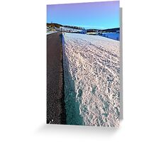 Winter wonderland, country road, vivid colors   landscape photography Greeting Card