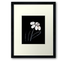 pebble flower  Framed Print