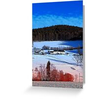 A sunny afternoon in winter wonderland | landscape photography Greeting Card