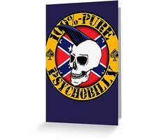 Pure Psychobilly - Flag Greeting Card