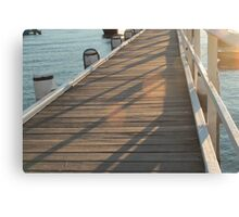 The Golden Pier Canvas Print