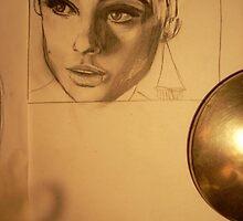 Edie Sedgwick - Pencil by Melissa Jayne Curtis