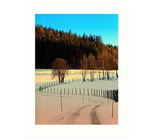 Hiking on a winter afternoon | landscape photography Art Print