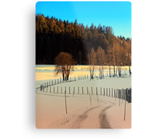 Hiking on a winter afternoon | landscape photography Metal Print